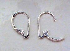*New* INTERCHANGEABLE Leverback Earring Wires Silver Plated - ONE PAIR