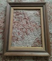 "Gorgeous Mid Century Modern Vintage White Washed Oak Wood 12 x 16"" Picture Frame"