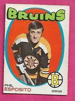 1971-72 OPC # 20 BRUINS PHIL ESPOSITO FAIR CARD  (INV# D7548)