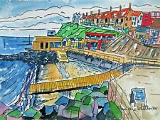 Authentic Original Watercolour Painting Sheringham Beach View North Norfolk