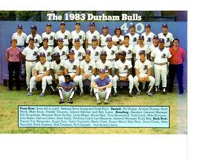 1983 DURHAM BULLS 8X10 TEAM PHOTO BASEBALL SOUTH CAROLINA
