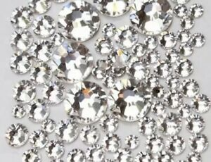 50 Swarovski  Clear Crystals. Nail Art Decor. different sizes available