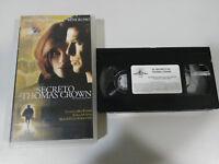 EL SECRETO DE THOMAS CROWN PIERCE BROSNAN VHS TAPE COLECCIONISTA CASTELLANO