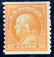 US Stamp SC #497 10c Orange Yellow Franklin