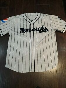Kansas City Monarchs Pepsi SGA Jersey Adult Xl Free Shipping MLB EUC KC Royals