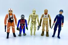 Star Wars Lot Of 5 Beater Action Figures Repro Accessories