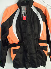 NWT! Men's Fulmer StormTrak Rain Suit Motorcycle Jacket, Pants & Carry Bag  Sz L
