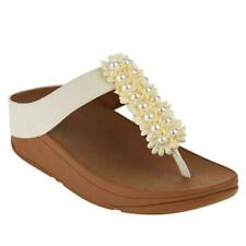 FitFlops Verna Embellished Pearl Thong platform sandals Sizes 6, 7, 8, 11 NEW