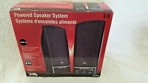 Cyber Acoustics CA Multimedia Desktop Computer Speakers, Black