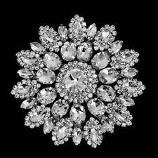 Rhinestone Diamonte Silver Bridal Wedding Sew on Motif Crystal Applique Patch 96
