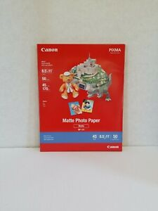 """Canon Pixma Matte Photo Paper 8.5""""×11"""" 50 Sheets MP-101 Inkjet, Arts and Crafts"""
