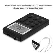 Portatile AM/FM Stereo Radio LCD Digitale+Auricolare+Ricaricabile Batteria Set