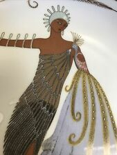 """Franklin Mint House Of Erte """"Diva Ii"""" Art Deco Limited Edition Collector Plate"""