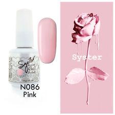 SYSTER 15ml Nail Art Soak Off Color UV Gel Polish UV Lamp N086 - Pink