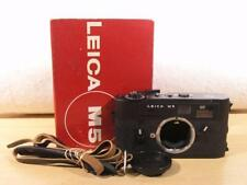99% Spotless Black Leica M5 3-Lug 35mm Film Rangefinder Camera Body w/Box