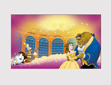 562 X LARGE CANVAS WALL ART CARTOON BEAUTY AND THE BEAST GIRL PINK print picture
