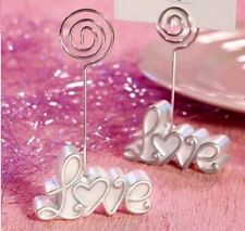 2x Wedding Dinner Table Centerpiece Name Place Card Stand Holder Love Design