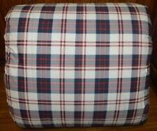 Chaps by Ralph Lauren Navy Blue & Burgundy Plaid Full/ Queen Comforter New