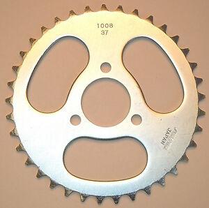 SUNSTAR REAR SPROCKET STEEL 37T Fits: Honda Z50R,NSR50 2-100837 91-0151 Gray