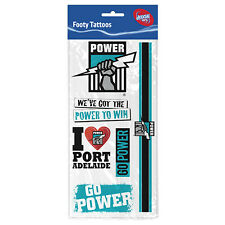 Port Adelaide Power AFL Tattoo Sheet **AFL Official Merchandise**