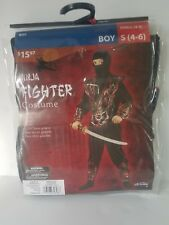 Halloween Costume Ninja Fighter Boy S (4-6) Fantasy Dress Up Outfit Play GD 3