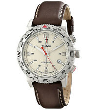TIMEX MEN'S  INTELLIGENT QUARTZ, COMPASS STAINLESS WATCH, T2P287, NEW IN BOX