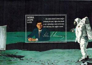 VINTAGE CLASSICS - Sierra Leone 1004 - John F. Kennedy Moon Landing - S/S - MNH