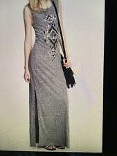 EXPRESS AZTEC EMBELLISH SEQUIN MAXI DRESS LONG BEACH CASUAL/CLUB -XS