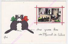 CPSM 15140 SAINT BONNET DE SALERS Une grosse bise  Illustrateur RENE LE CHAT n1