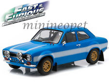 GREENLIGHT 19022 FAST AND THE FURIOUS 6 BRIAN'S 1974 FORD ESCORT RS2000 MK 1/18