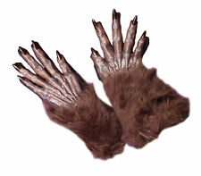 """ADULT WEREWOLF MONSTER 16"""" HANDS GLOVES COSTUME ACCESSORY FW8274BR"""