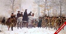 LARGE CANVAS PRINT GEORGE WASHINGTON WINTER VALLEY FORGE REVOLUTION WAR PAINTING