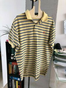Yellow and Blue Strips Polo Shirt by Ralph Lauren