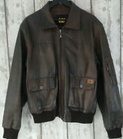 CAT Size L Mens Brown Leather Jackett Caterpiller