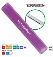 "250 Usa Made Custom 12"" Plastic Leading Edge Ruler Printed with Logo or Message"
