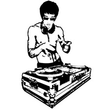 """BRUCE LEE SIZE 4""""x8"""" DECAL STICKER HOME BIKE CAR LAP TOP CUSTOM SIZE UP TO 23"""""""