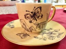 Vintage Bareuther Waldsassen Bavaria-Germany Demi cup/saucer signed by Perrin