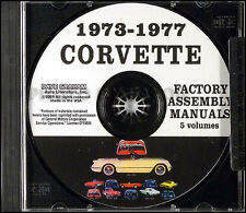 Corvette Factory Assembly Manual on CD 1977 1976 1975 1974 1973 Chevrolet Chevy