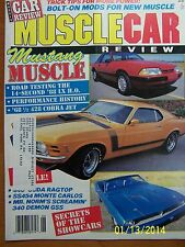 Dobbs' Publications MUSCLE CAR REVIEW Magazine June 1988