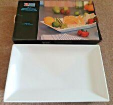 """Antony Worrall Thompson 15.5"""" white ceramic serving platter."""