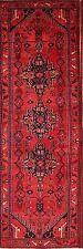 "Geometric Tribal Wool Runner 3x10 Hamadan Persian Oriental Rug 10' 1"" x 3' 4"""