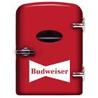 Budweiser Portable 6-can Mini Fridge Red MIS135BUD