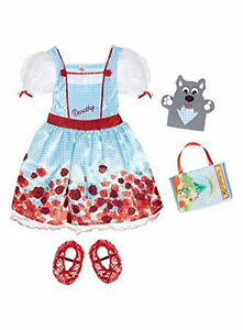 Official licensed Wizard of Oz Dorothy fancy dress with Red Shoe Covers, Toto BN