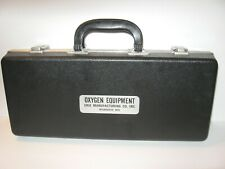 Vintage Erie Manufacturing Co Oxygen Equipment Case w/Instructions + Tank Holder