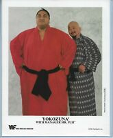 WWE YOKOZUNA MR FUJI P-255 OFFICIAL LICENSED ORIGINAL AUTHENTIC 8X10 PROMO PHOTO