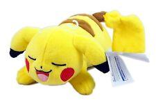 TOMY Pokemon Plush, Pikachu Sleeping 8 inch, new