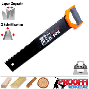 Profi Handsäge Baumsäge Garten Holz Säge Japan Zugzahn Doppelseitig TEFLON C1915