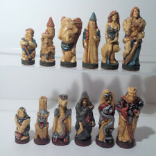 Studio Anne Carlton - SAC -  Warlords Chess Pieces - Painted - No Board - #198