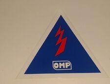 Adesivo Sticker OMP da posizionare vicino allo staccabatterie dell'auto da corsa