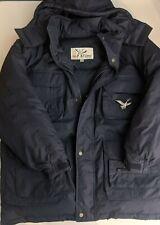 Triple Fat Goose Hooded Puffer Jacket Navy Blue Mens Xl